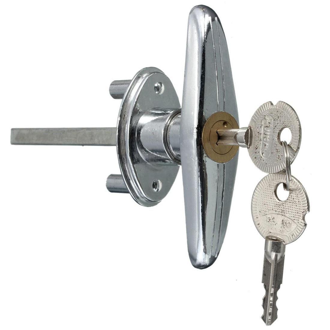 Garage Door Lock T Handle With Key Screw Metal Copper Us 8 68 Security Locks Rolling Door 2 Keys