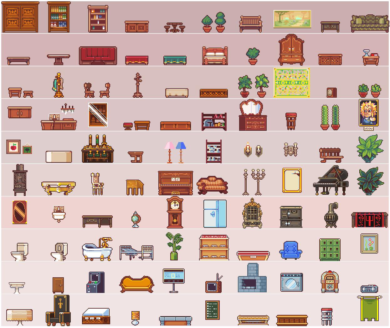 100 Furniture Sprites By Neoriceisgood On Deviantart