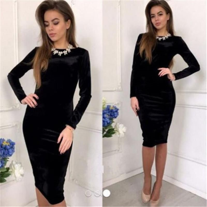 e40be41169e High Neck Long Sleeve Stretchy Ribbed-Knit Bodycon Short Dress ...