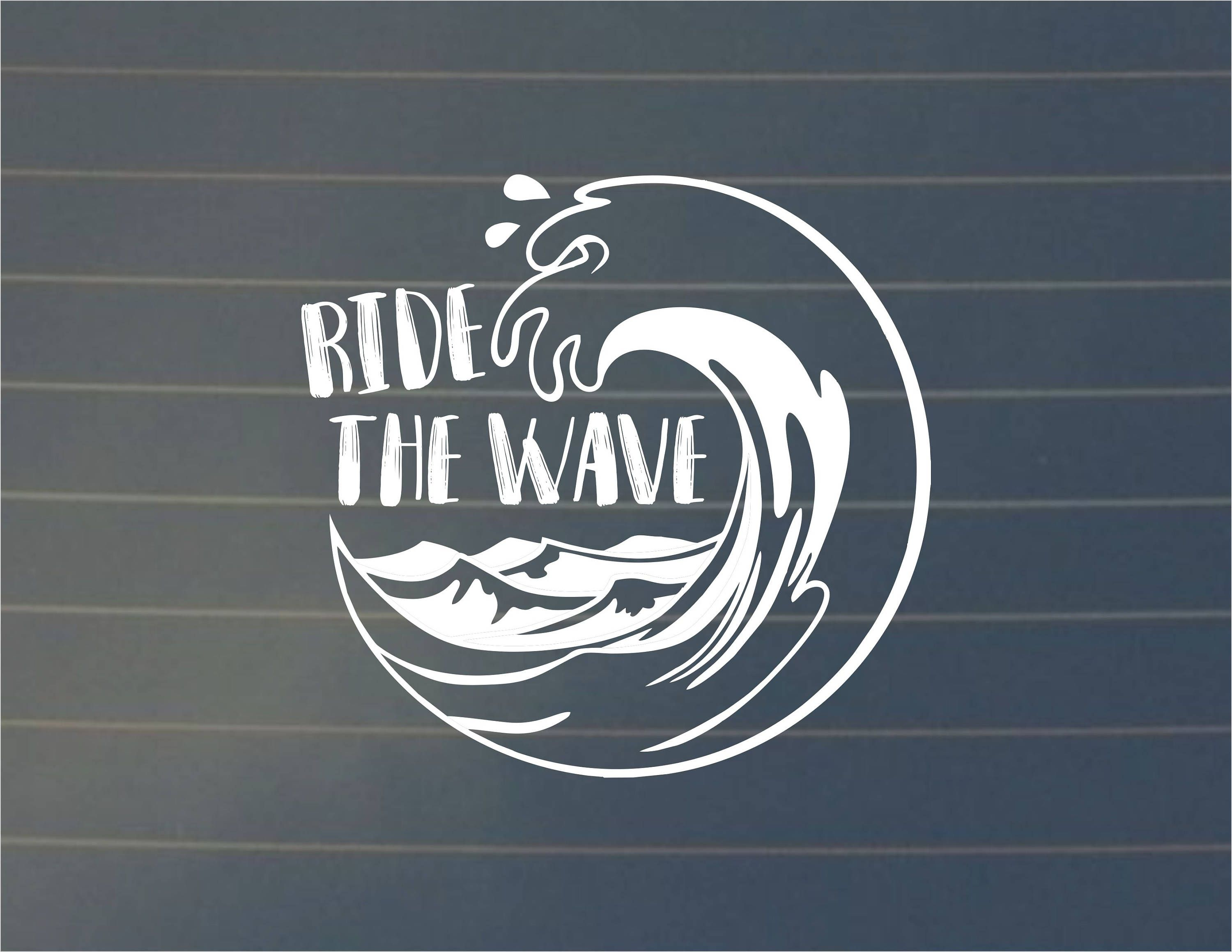 Decal Ride The Wave Decal Car Decal Wave Sticker Ocean Decal Ocean Sticker Laptop Decal Laptop Stickers Vinyl Car Decals Vinyl Sticker Monogram Decal [ 2319 x 3000 Pixel ]