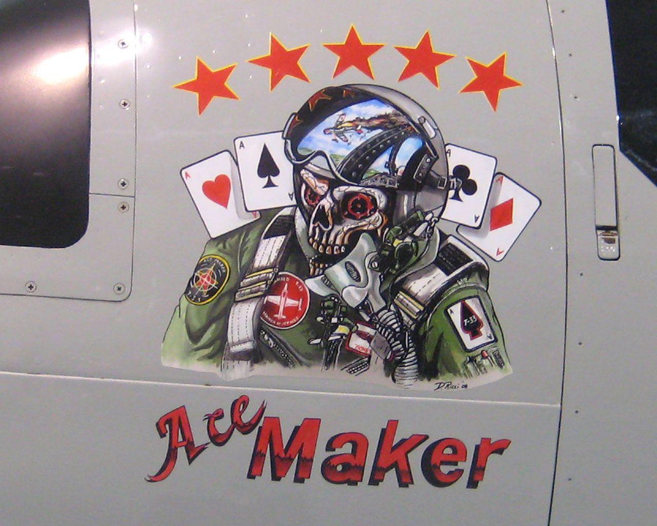 Pin Andrew Ewington Air Force Nose Art