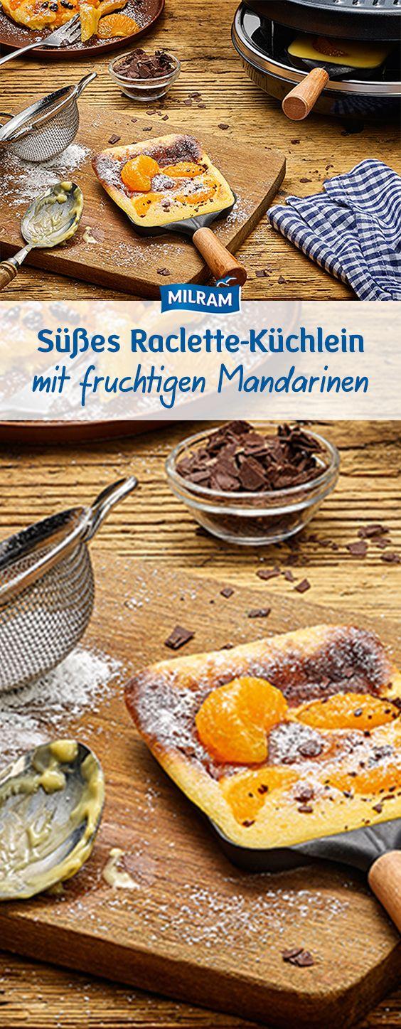 Mandarinen und Schokoladen Küchlein fürs Raclette