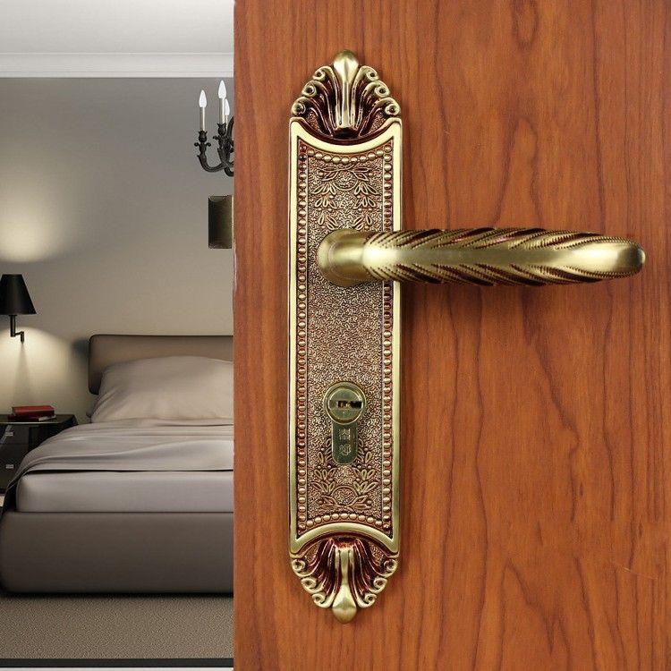 Modeled after an antique LOCK Rose Gold Door lock handle door levers out  door furniture door handle Free Shipping pb47 | $476.36 USD. - Modeled After An Antique LOCK Rose Gold Door Lock Handle Door Levers