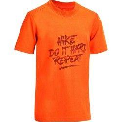 T-Shirt montagna bambino 8-14 anni HIKE 500 arancione  48709ce9e4ac