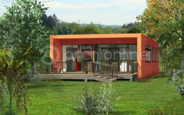 Cette maison container originale de 85 42 m reprend le for Maison moderne container