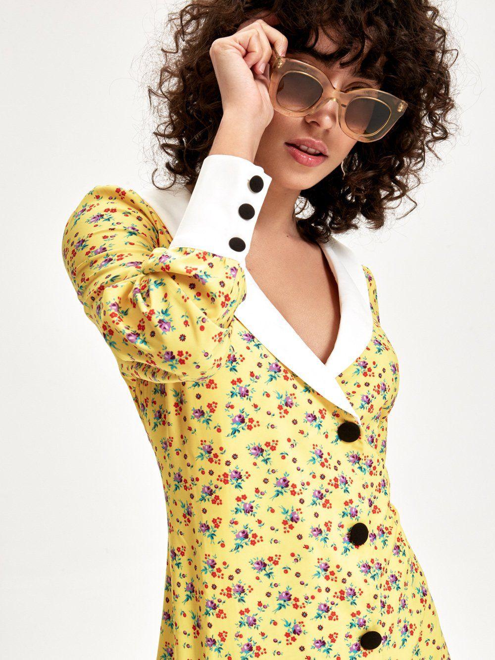 CITRINO - Vestido Midi Estampado Floral - MIOH Vestidos Invitada Boda y  Eventos Especiales  vestidos ff1bf4e6d1ee