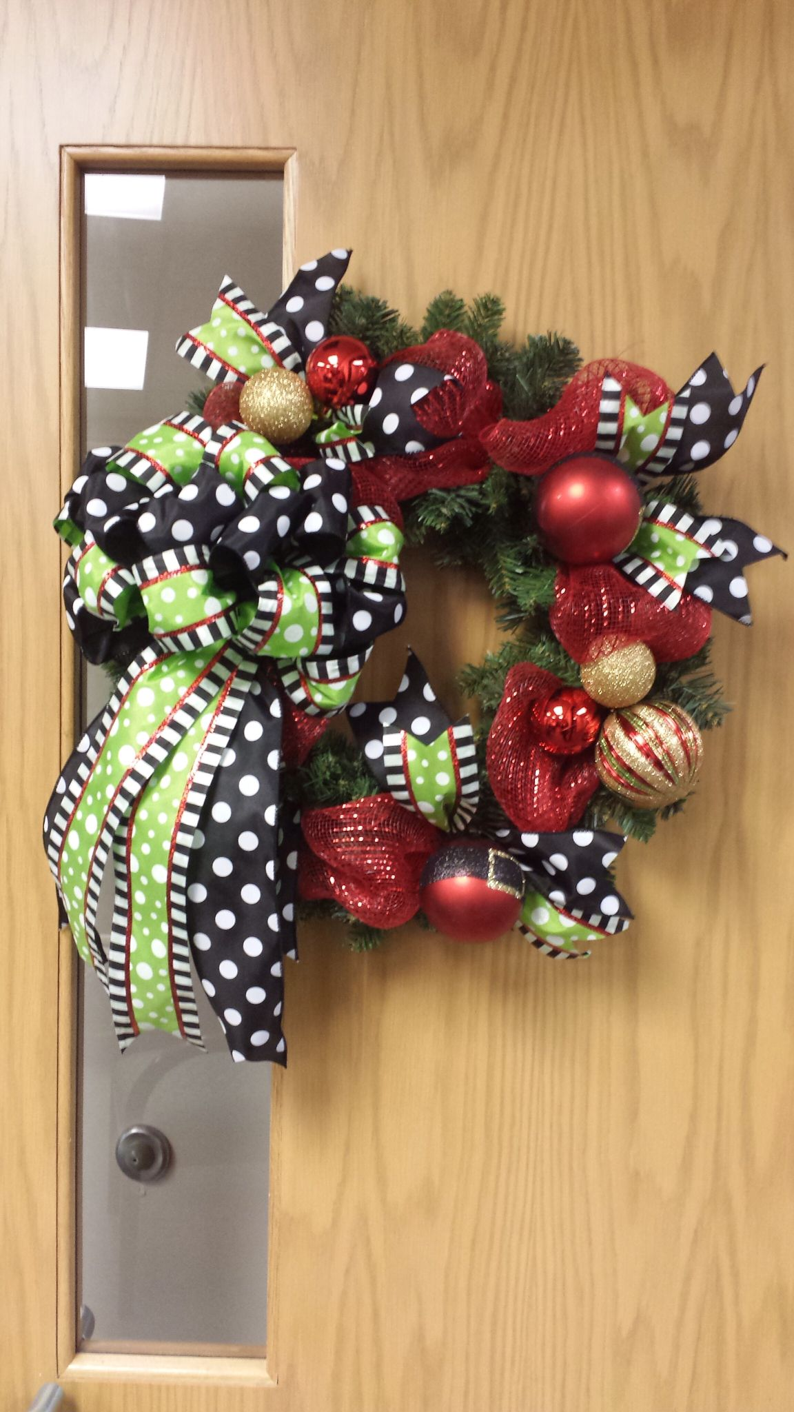 another christmas wreath with dollar general ornaments