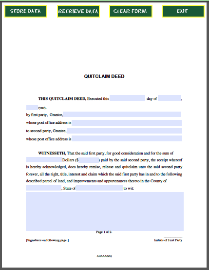Quitclaim Deed  Forum    Quitclaim Deed And Pdf