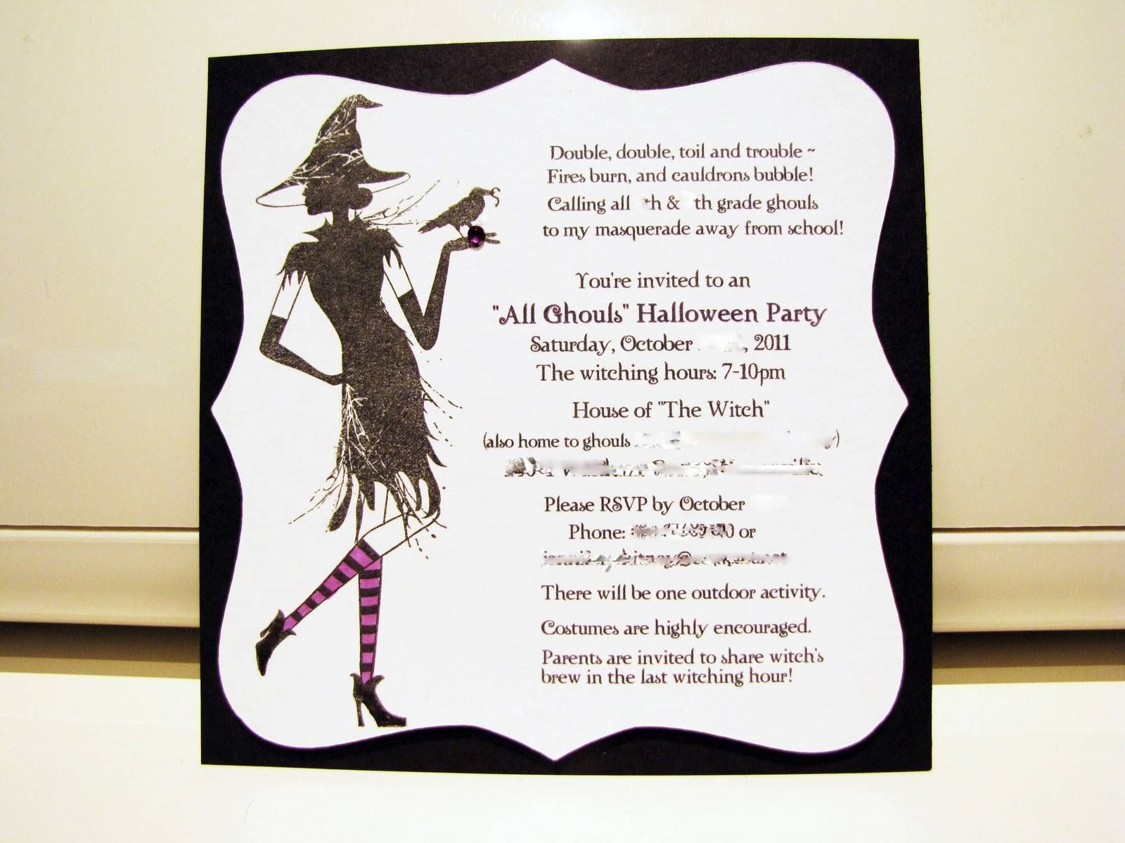 Contoh Invitation Card Tentang Halloween In 2019 Halloween