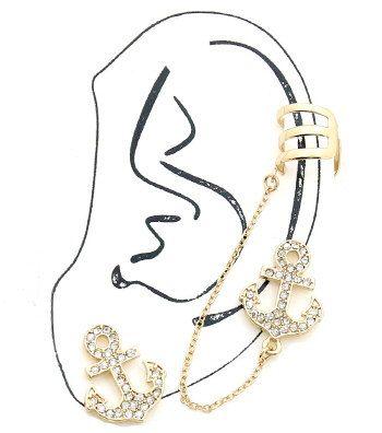Pretty anchor ear cuff https://www.etsy.com/listing/213977500/gorgeous-gold-anchor-ear-cuff-post