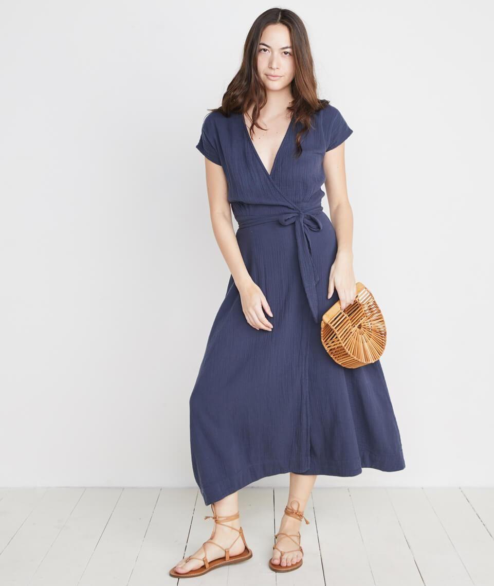 Maddie Wrap Dress In Ink Wrap Dress Dresses Fashion