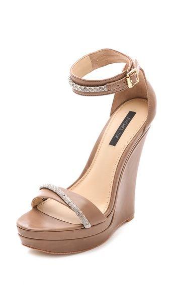 3636d7c67561 Rachel Zoe Katlyn Snake Wedge Sandals