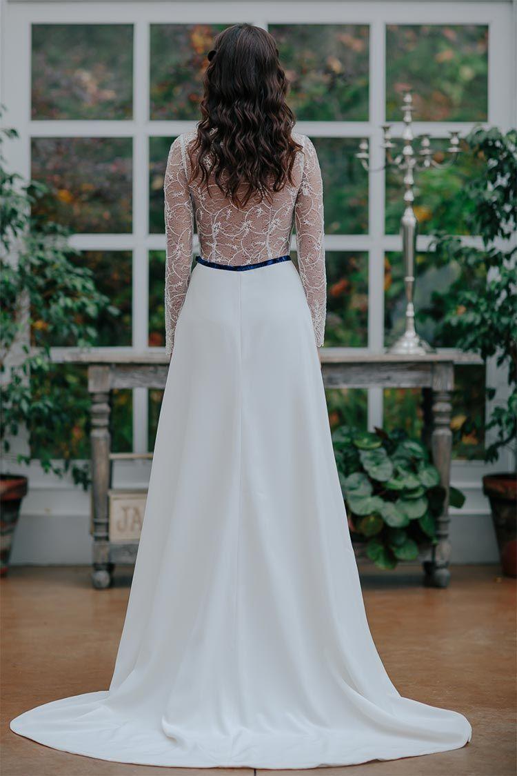 vestido-novia-con-cola-y-espalda-encaje-oh-que-luna - Blog de bodas ...