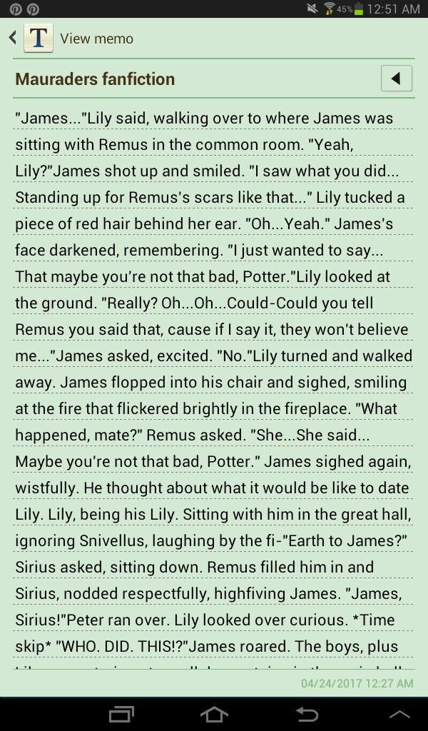 Part 3, of Mauraders, where Remus gets bullied, and James get's