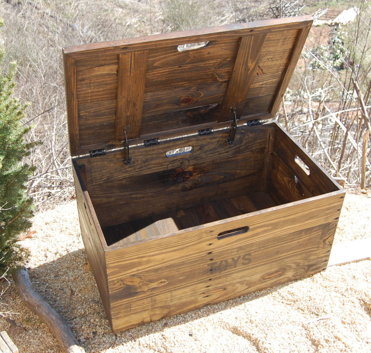 wood crate furniture. Wooden Crate With Lid/ Toy Chest/ Entryway Furniture/ Coffee Table/ Storage Wood Furniture W