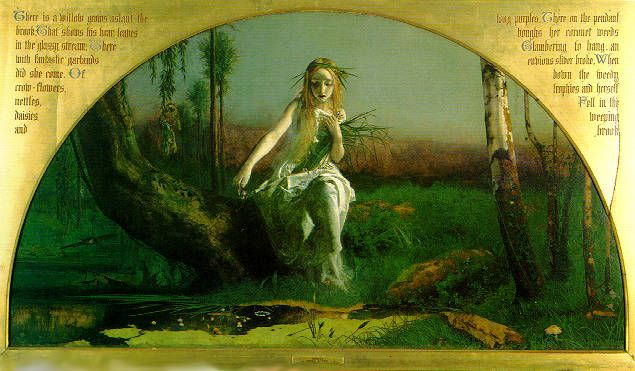 Ophelia By Arthur Hughes 1852 He Was 19 At The Time He Painted