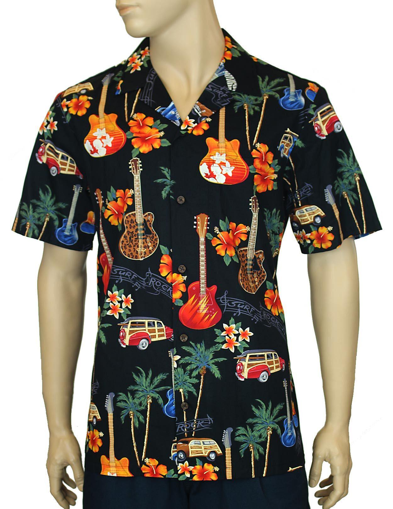 5cd9926e Pau Hana Guitars Hawaiian Shirt – Twisted Palms Trading Co. | Men's ...
