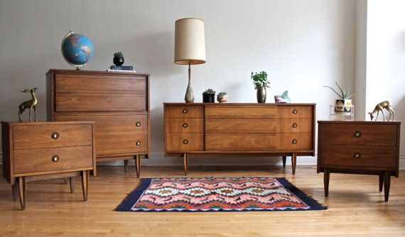 Bedroom Bassett Furniture Co Mid Century Modern Bedroom Suite For