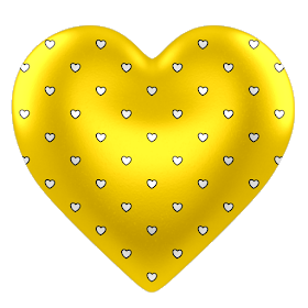 Monica Michielin Alfabetos Yellow Hearts Polka Dots Alphabet Numbers And Icons Png Yellow Heart Colorful Heart Heart Pictures
