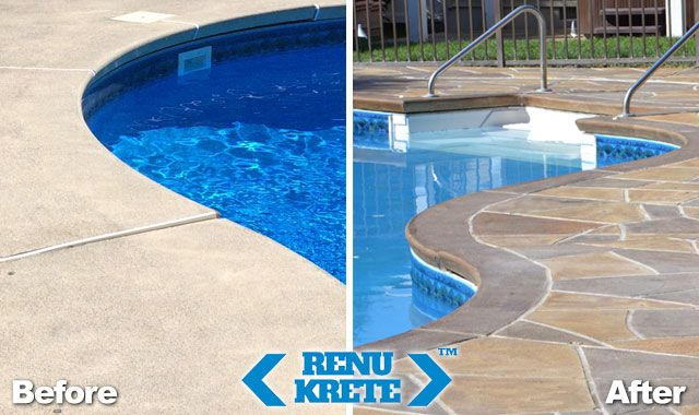 How To Resurface A Concrete Pool Deck Pool Remodel Concrete Pool Pool Resurfacing