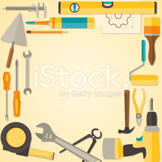Vector flat design frame with do it yourself tools for vector flat design frame with do it yourself tools for construction solutioingenieria Images