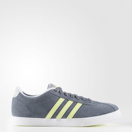 Courtset Shoes Grey $55 suede upper | Adidas courtset