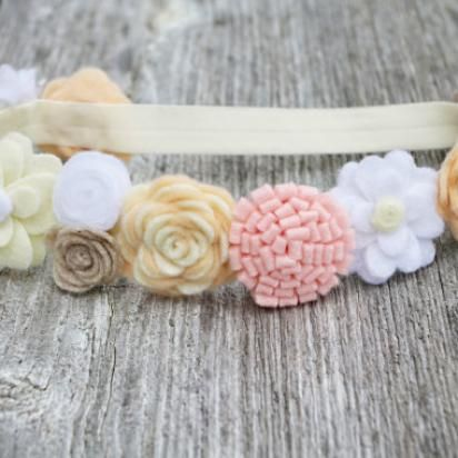 Pink Cream Flower Crown | greenmomguide.com