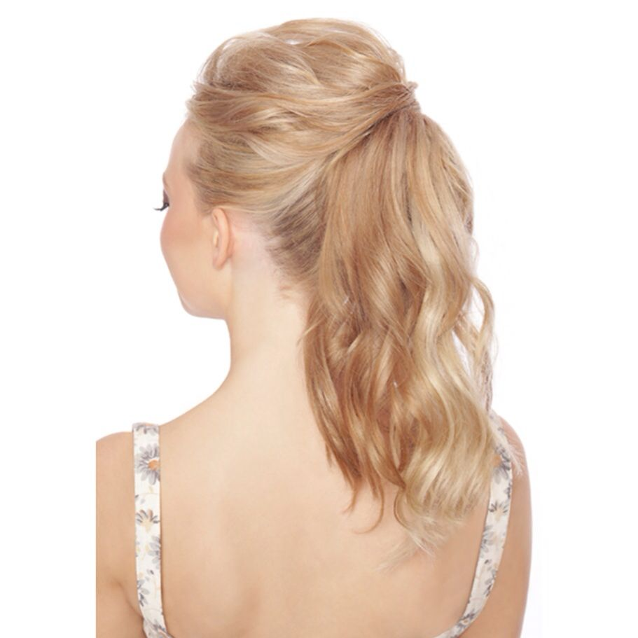 Blonde High Ponytail Hairstyle Stunning And Elegant With Quiff And