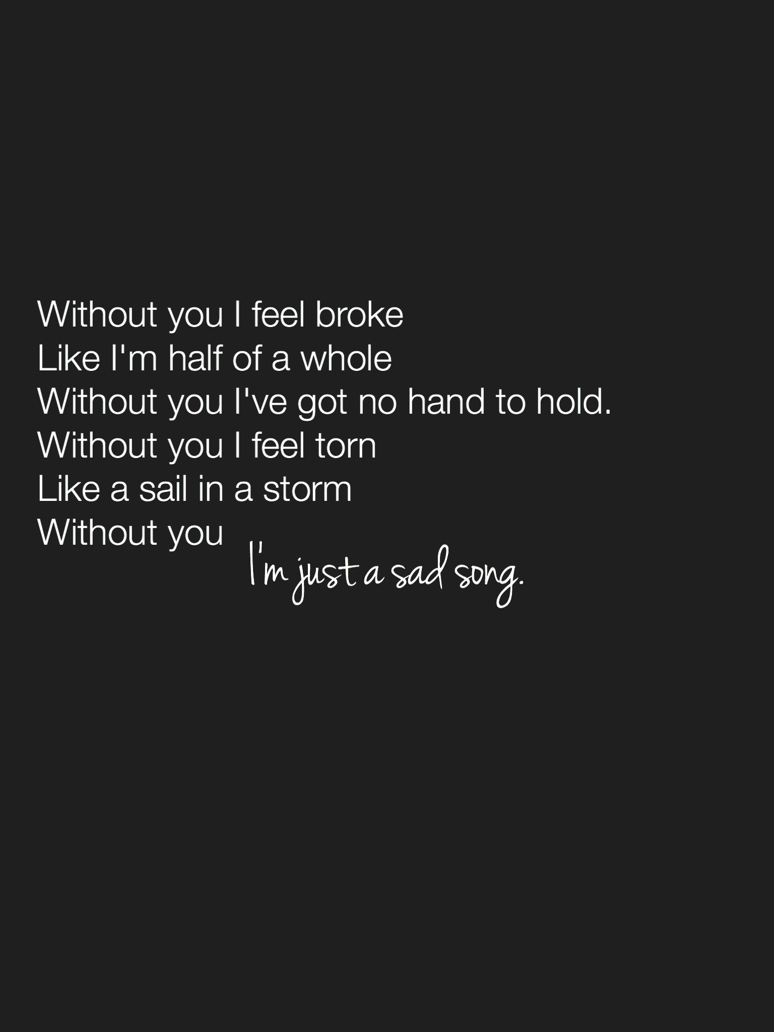 Sad song lyric quotes