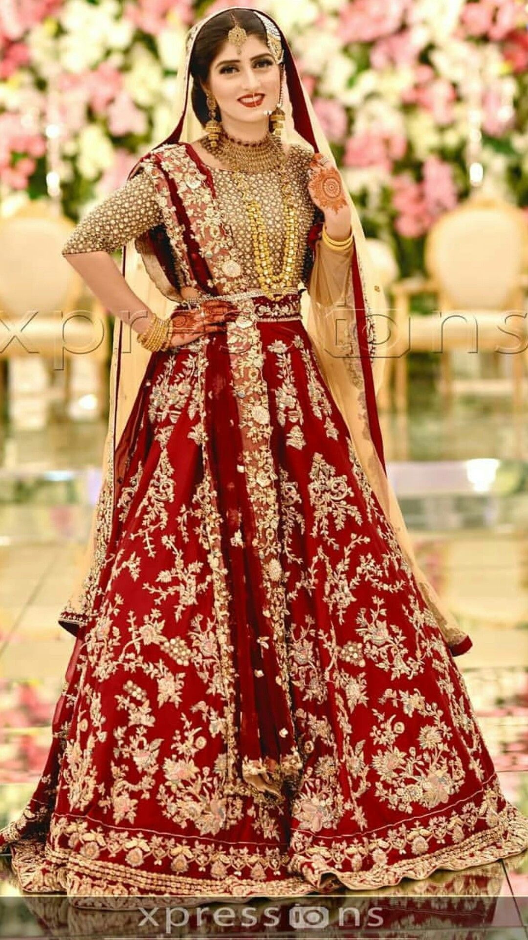 Dupatta Style Indian Bridal Dress Pakistani Bridal Dresses