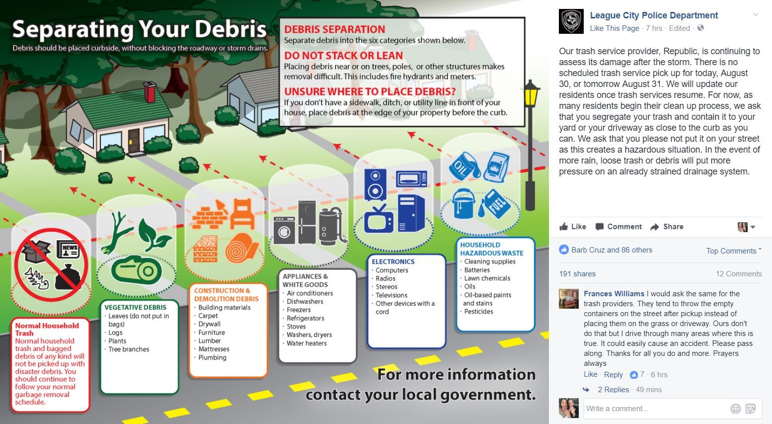 What To Do With Debris As You Clean Out Your Home Trash Service League City After The Storm