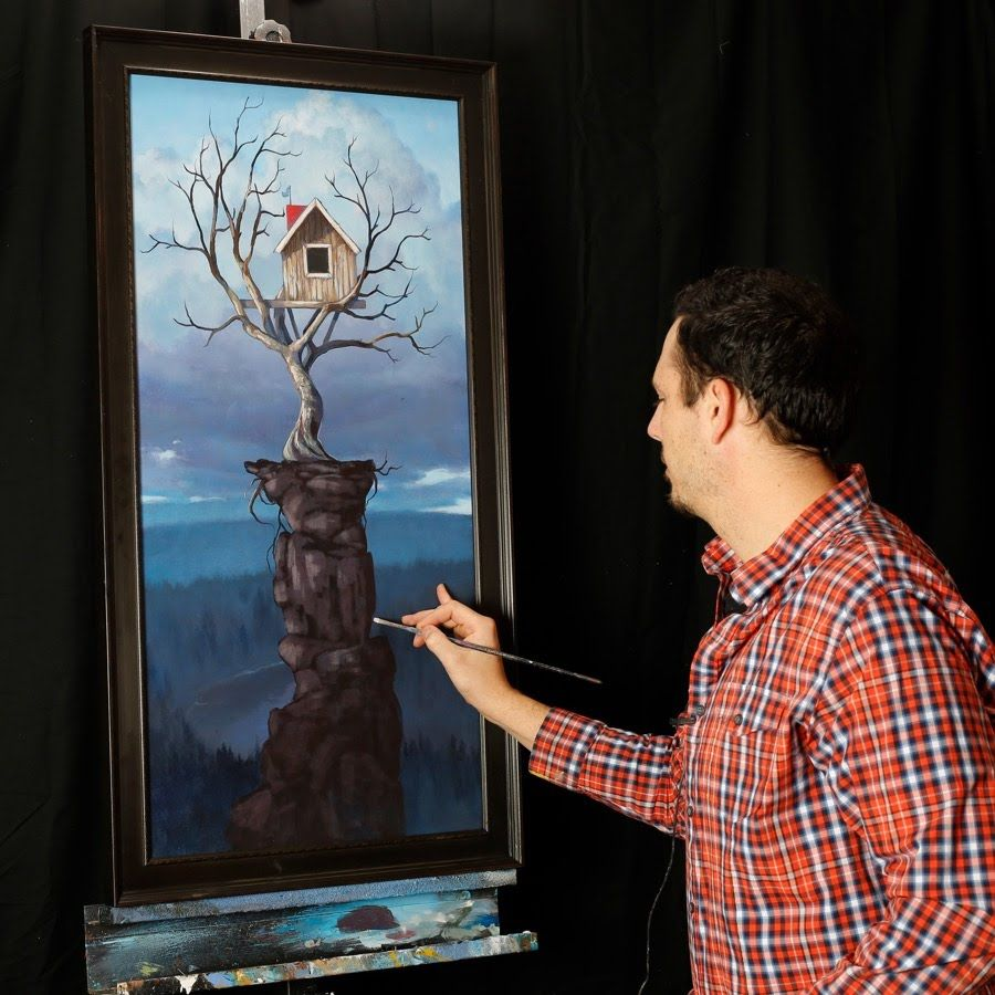 Surreal Acrylic Paintings