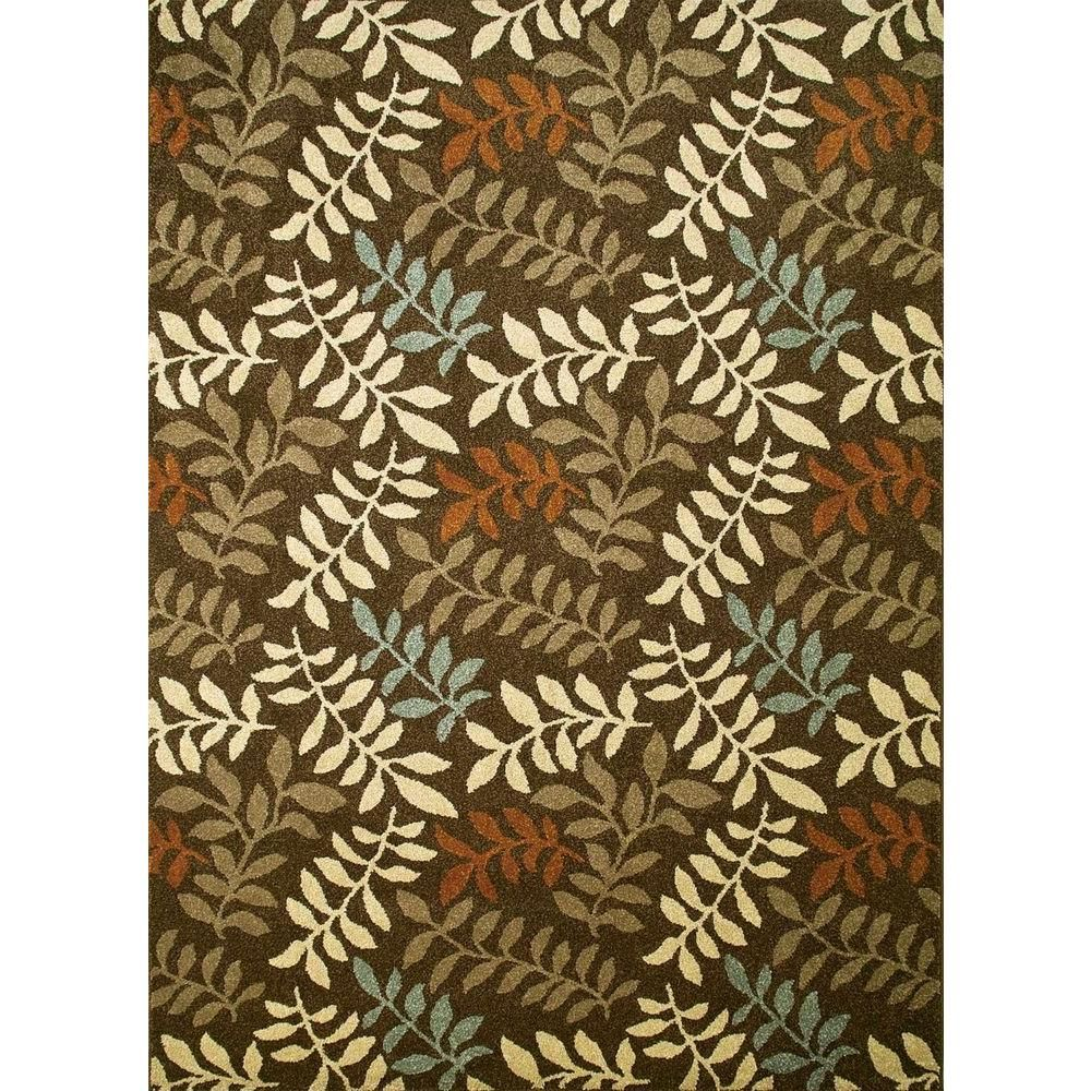 Concord Global Trading Chester Leafs Red 5 Ft Round Area Rug 97800 The Home Depot Colorful Rugs Area Rugs Rugs