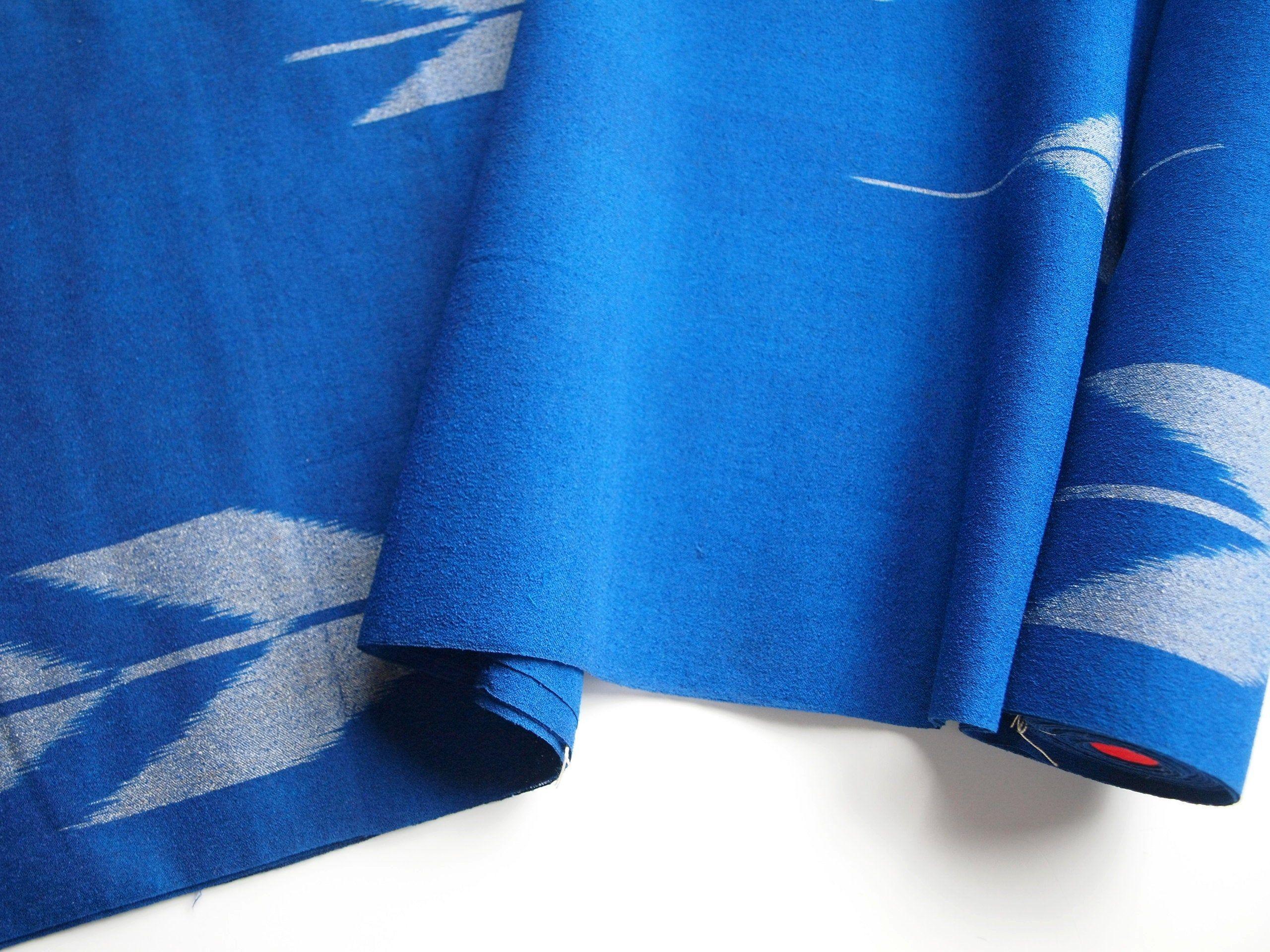 Yabane Blue Kimono Silk Vintage Japanese Silk By The Yard Etsy Japanese Silk Kimono Fabric Blue Kimono