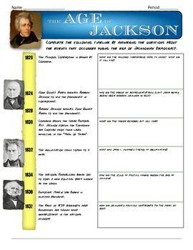 The Age of Jackson | Teaching history, 8th grade history ...