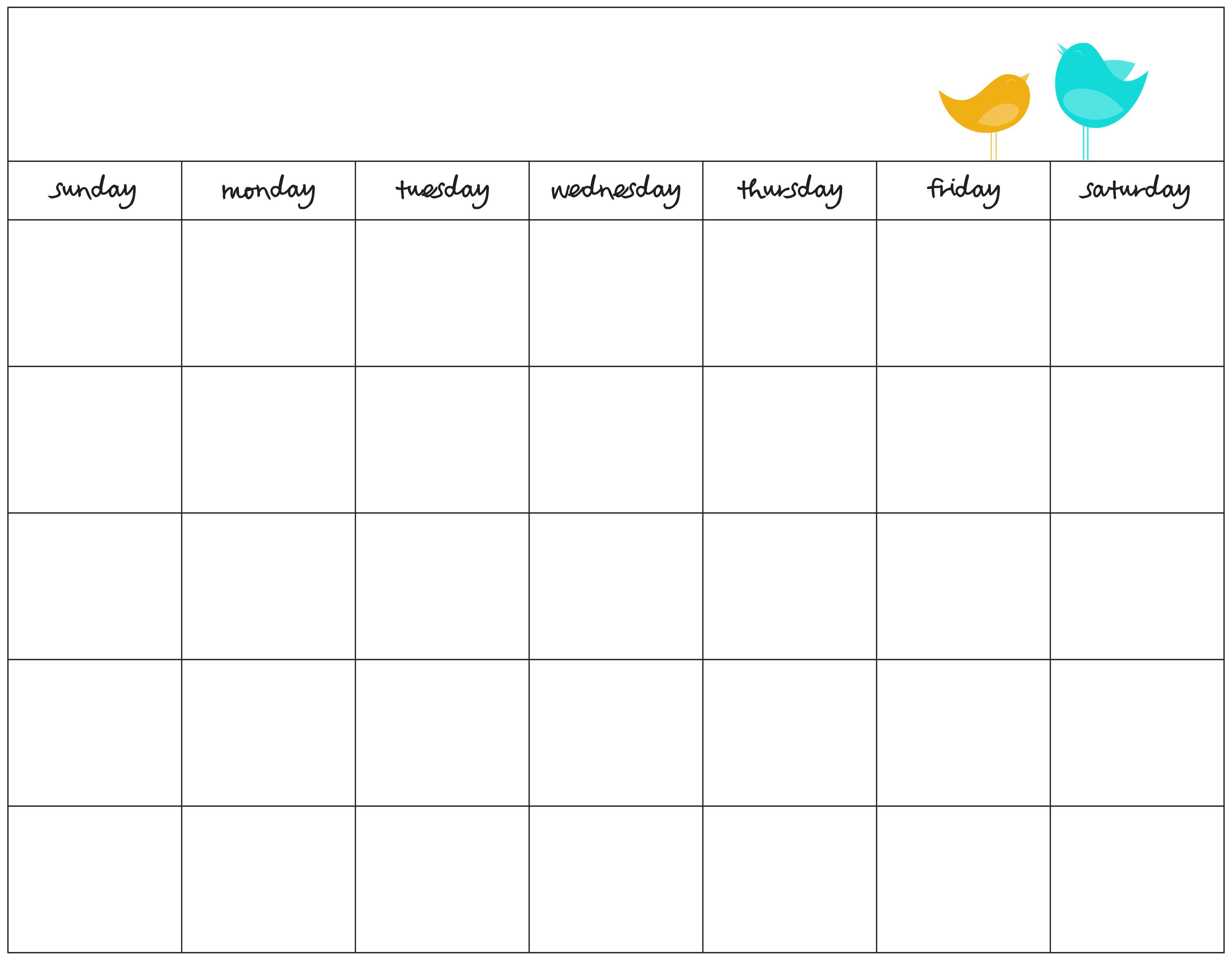 Blank Calendar Print Out | Blank Calendar | Pinterest | Blank ...