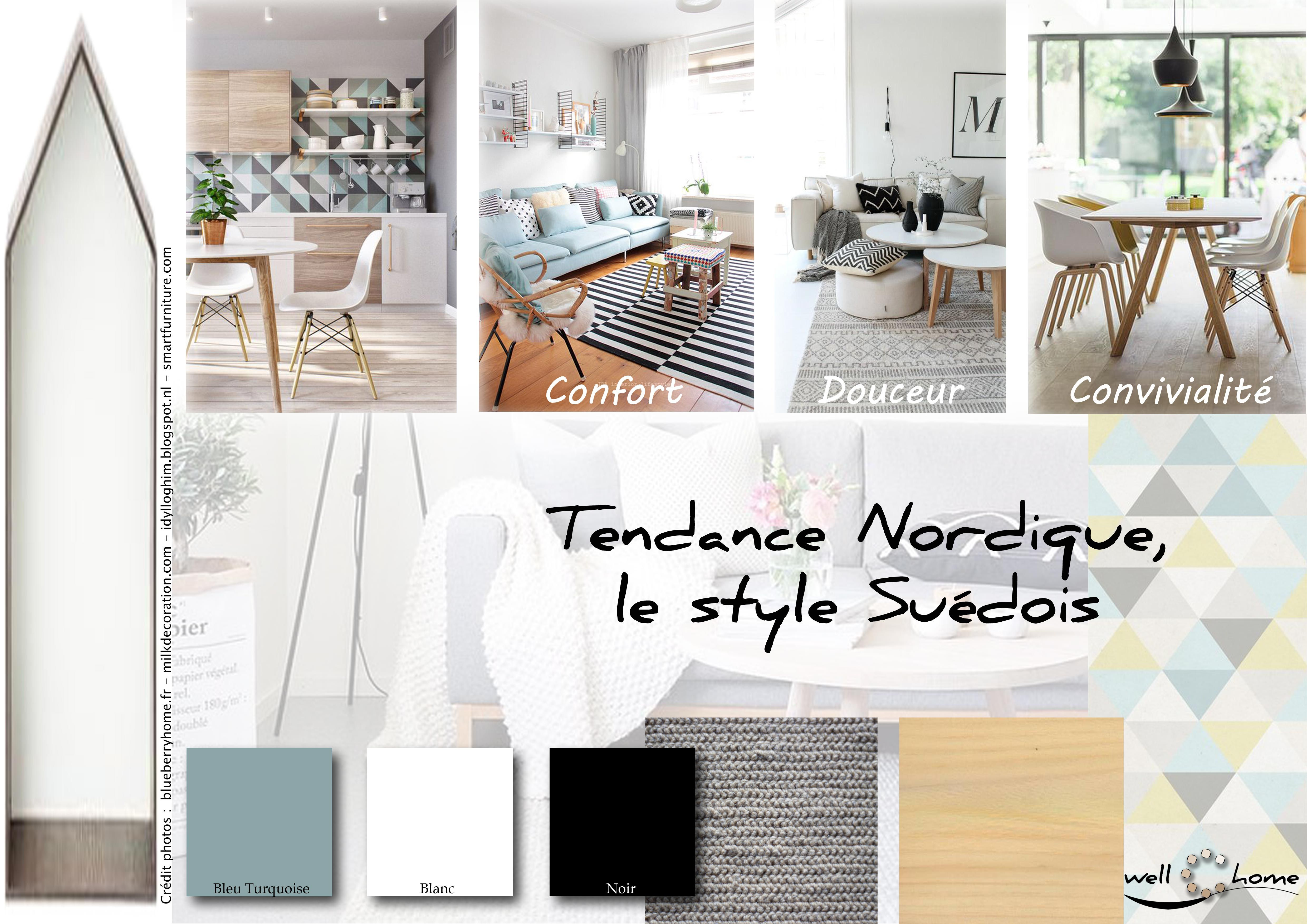 moodboard d co planche d 39 ambiance tendance nordique style su dois r alisation well c home. Black Bedroom Furniture Sets. Home Design Ideas