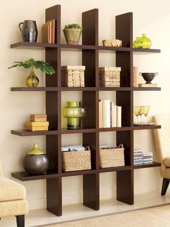 90 Best Small Living Room Decor Ideas Modern Bookcase Bookshelf