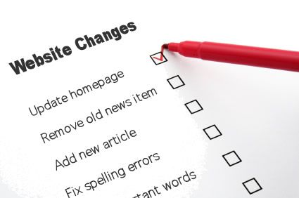 Checklist for Changes on Web Design