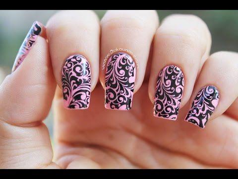 Decoracin De Uas Con Stamping Stamping Nail Art Youtube Hair