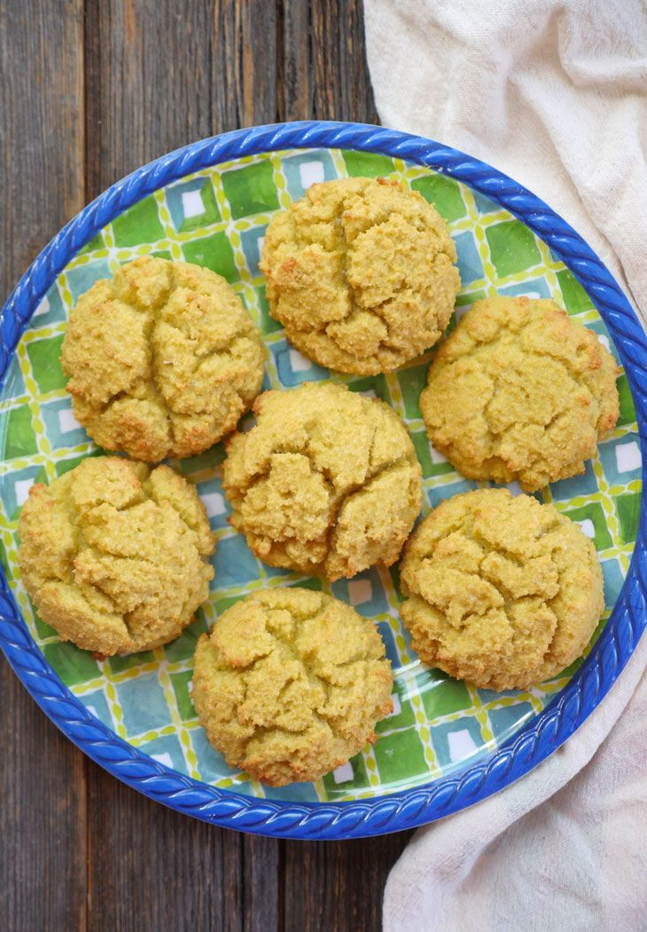 4-ingredient coconut flour biscuit by ashley of myheartbeets.com