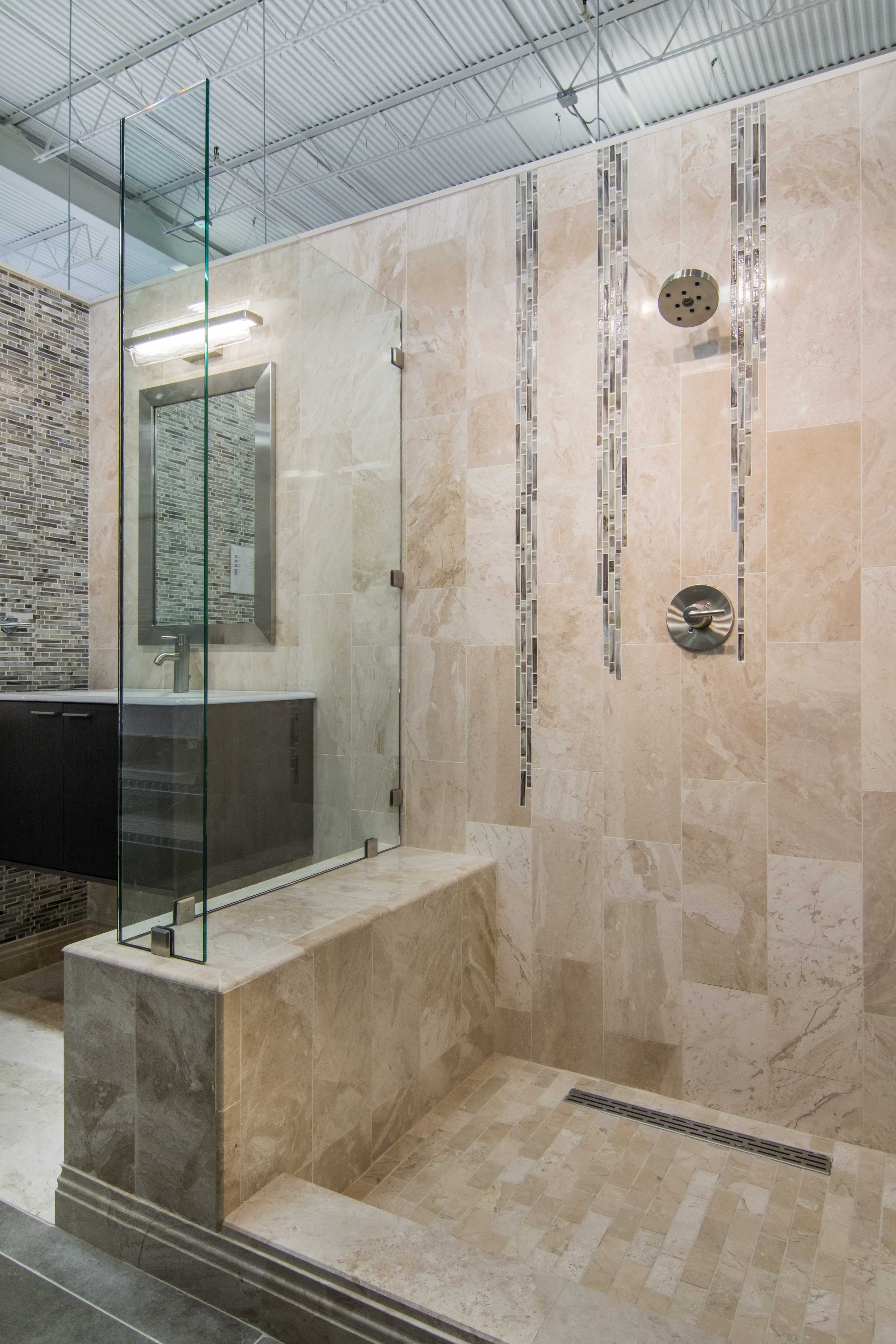 Polished marble tiles bathroom - Bathroom Shower Marble Tile Queen Beige Polished Marble Floor Tile 12 X 24 In