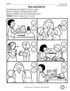 kindergarten worksheets on following the rules - Yahoo Image Search ...