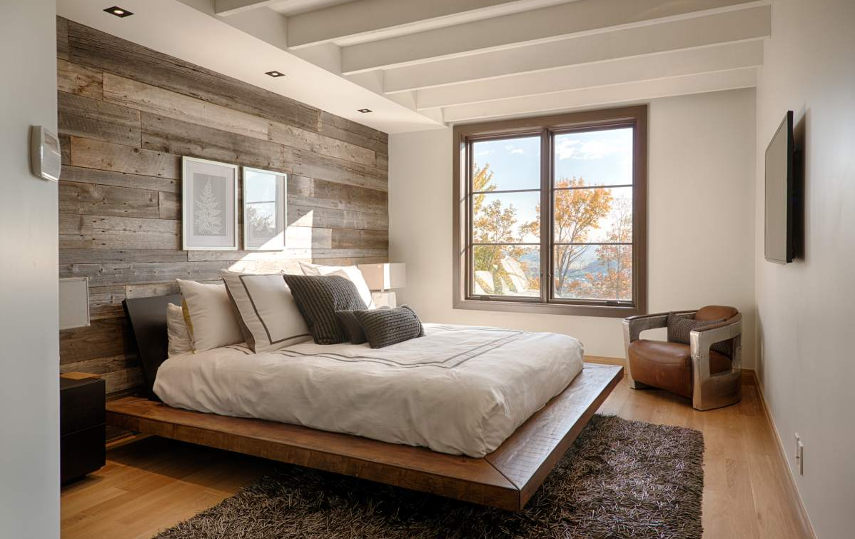 20 Fantastic Bedrooms With Pallet Walls Chambre A Coucher Bois