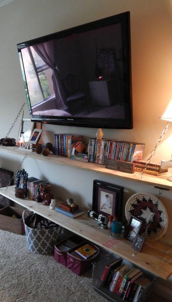 Tv Palette Shelving For The Home Pinterest Meuble Tv Suspendu