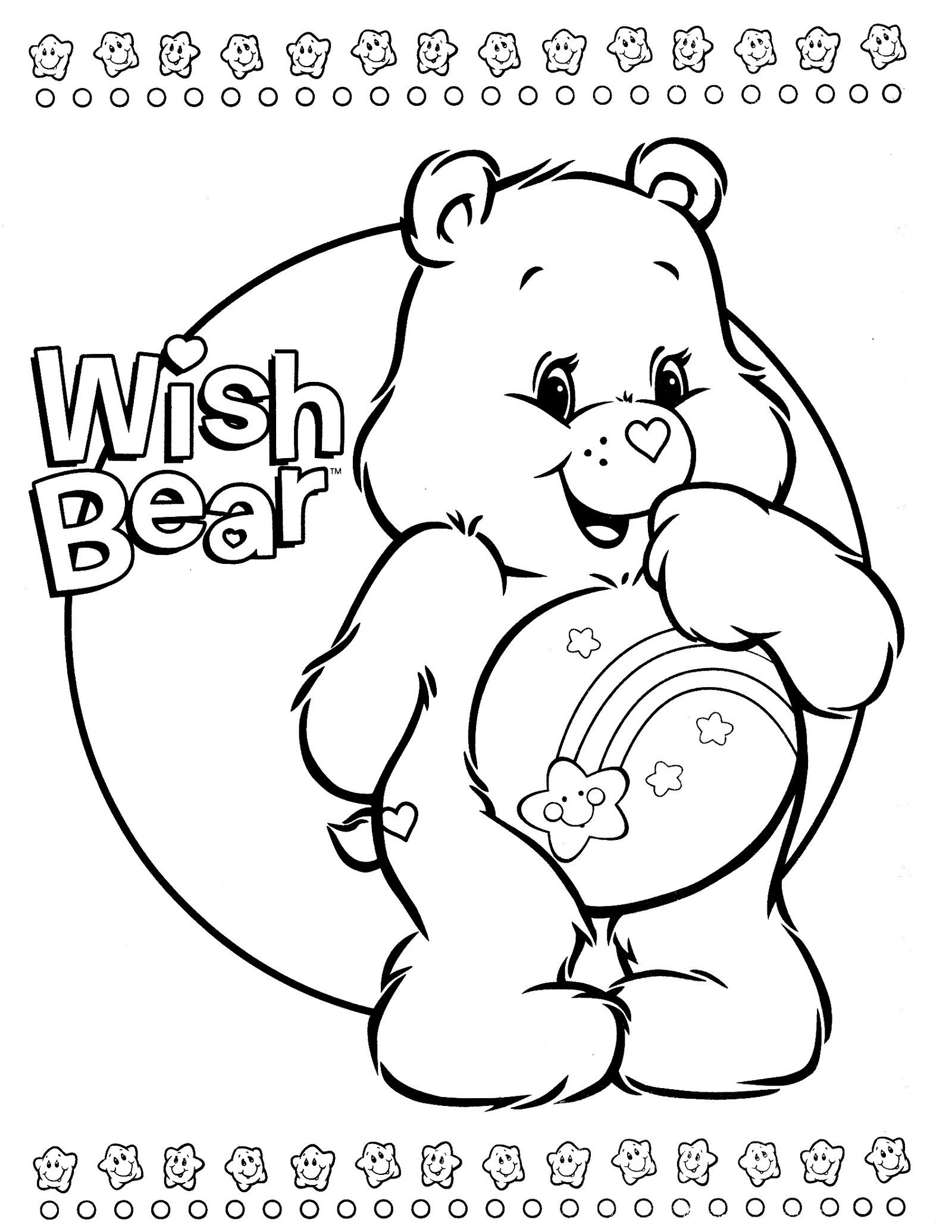 Wish Bear From Care Bears Coloring Book  Bear coloring pages