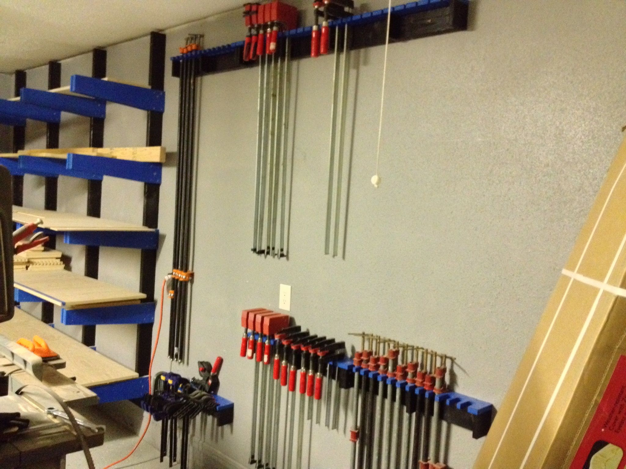 Clamp wall for my shop!