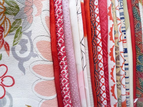 Vintage Kimono Fabric Scraps