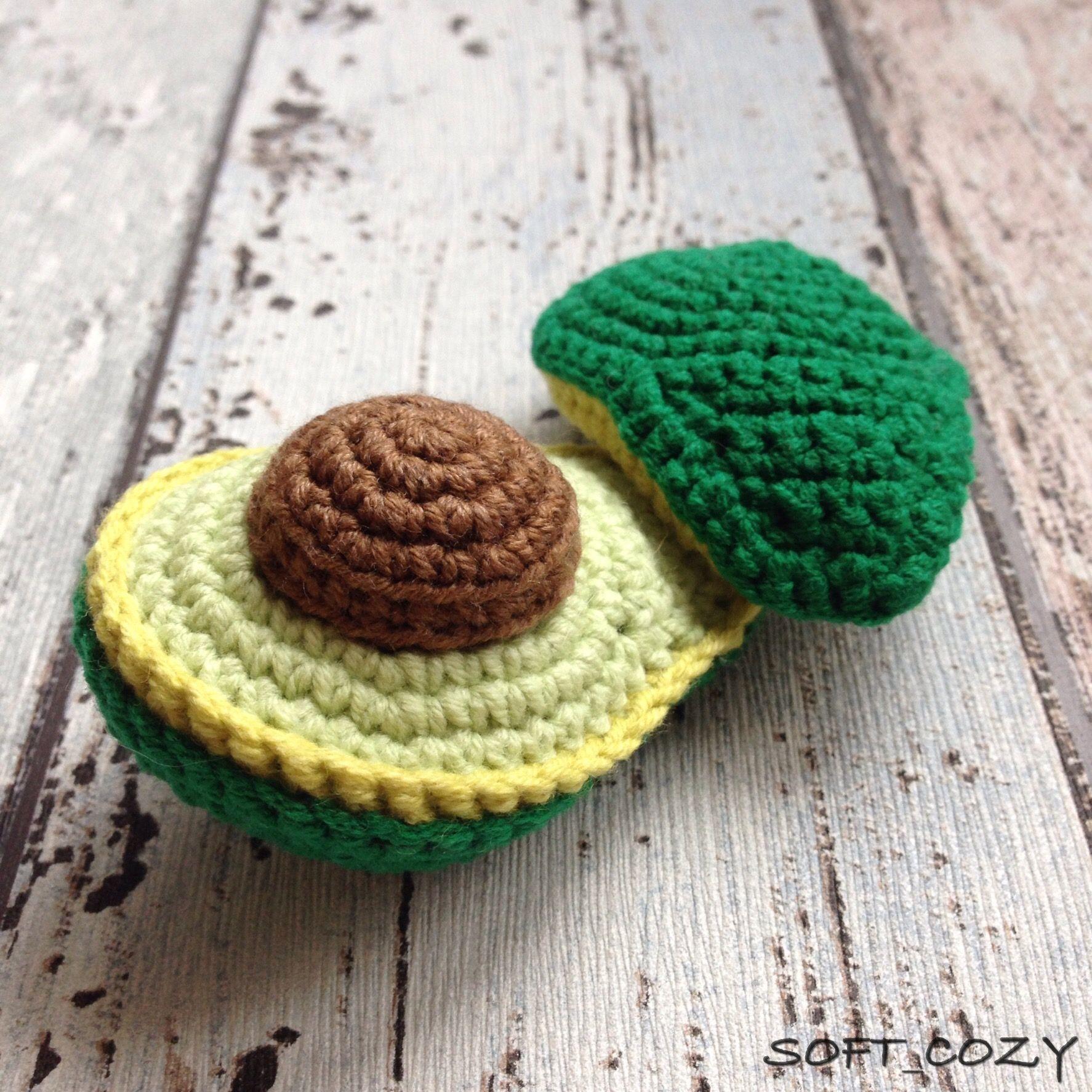 Avocado Crochet Pattern | Crochet, Knitting, Sewing, Quilting ...