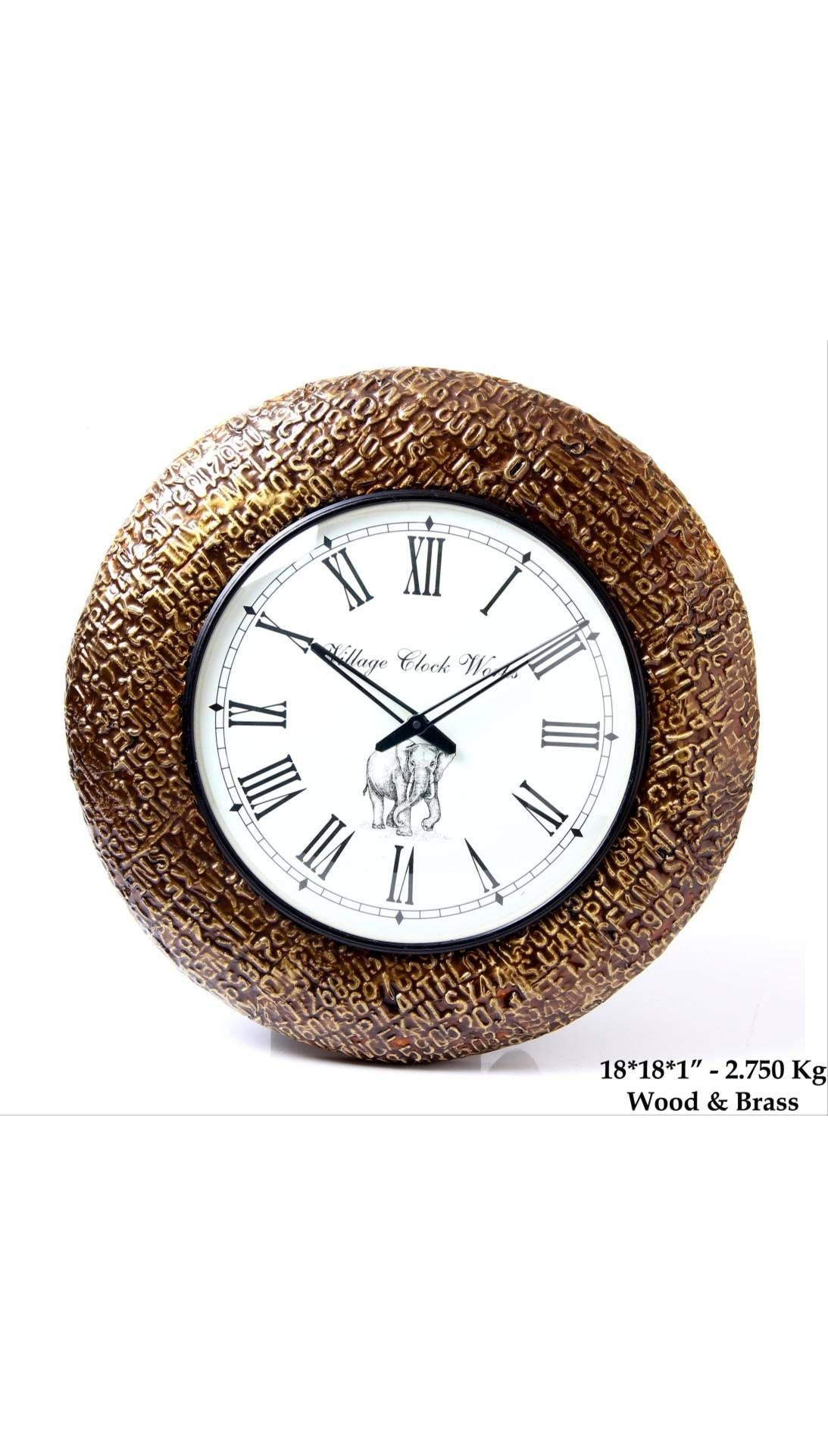 Buy Jodhpury Alphabet Clock 18inch Online At Low Prices In India